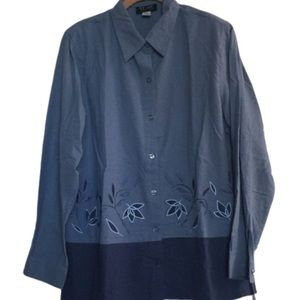 NEW! Embroidered Top in Shades of Blue by Stunt